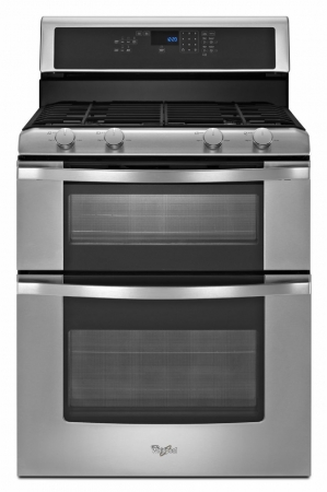 Whirlpool Double Stainless Steel Gas Range