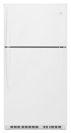 Whirlpool 22.4 cu.ft Top Mount White Deluxe